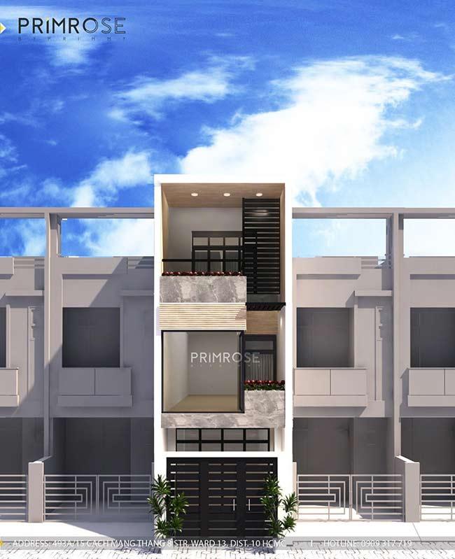 Thiết kế nội thất nhà phố 1 trệt, 2 lầu tại Thủ Đức thiet ke nha pho hien dai 24