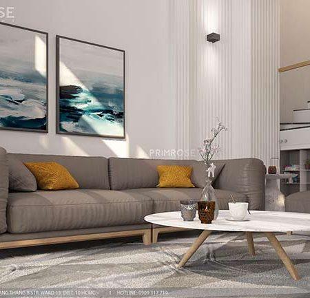 Thiết kế nội thất nhà phố 1 trệt, 2 lầu tại Thủ Đức