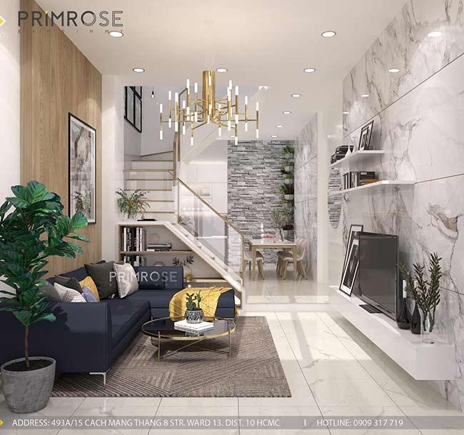 Thiết kế nội thất nhà phố Kha Vạn Cân, Thủ Đức thiet ke nha pho hien dai 4