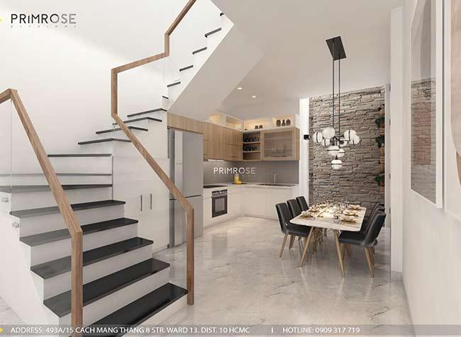 Thiết kế nội thất nhà phố 1 trệt, 2 lầu tại Thủ Đức thiet ke nha pho hien dai 6 1