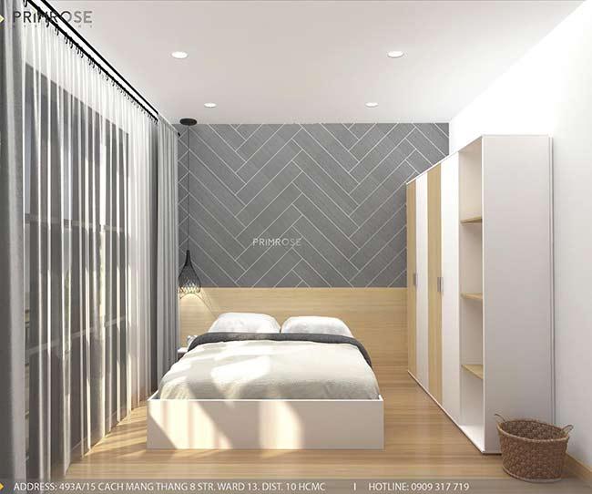 Thiết kế nội thất nhà phố 1 trệt, 2 lầu tại Thủ Đức thiet ke nha pho hien dai 7