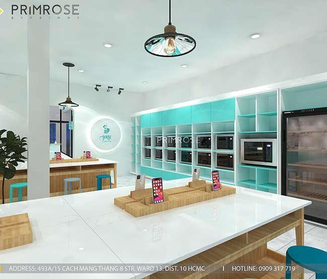 Thiết kế tiệm bánh ngọt kết hợp trà cafe Sense DIY Bakery & Tea thiet ke quan cafe banh HCM 10