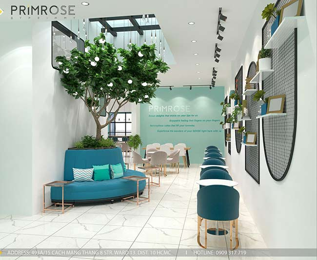 Thiết kế tiệm bánh ngọt kết hợp trà cafe Sense DIY Bakery & Tea thiet ke quan cafe banh HCM 15