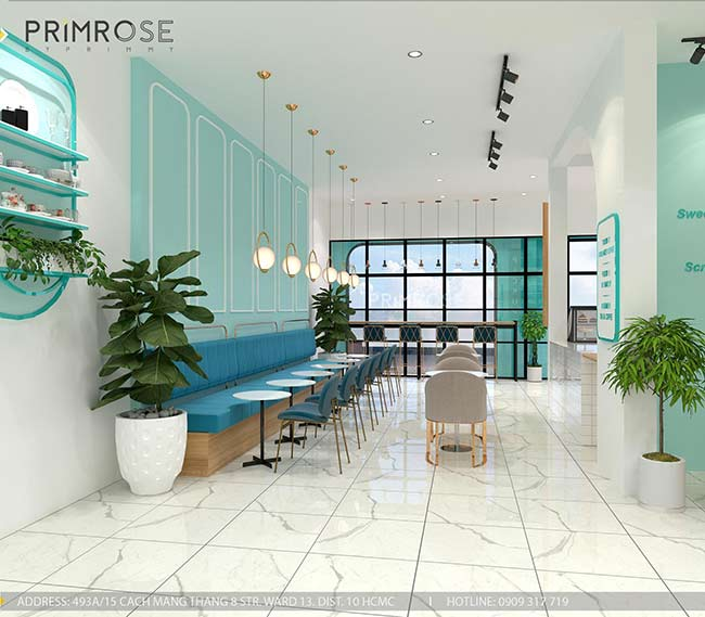 Thiết kế tiệm bánh ngọt kết hợp trà cafe Sense DIY Bakery & Tea thiet ke quan cafe banh HCM 16