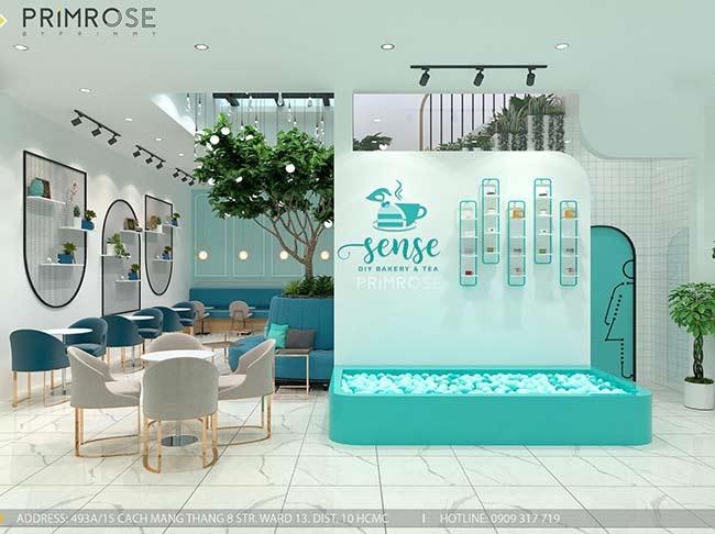 Thiết kế tiệm bánh ngọt kết hợp trà cafe Sense DIY Bakery & Tea