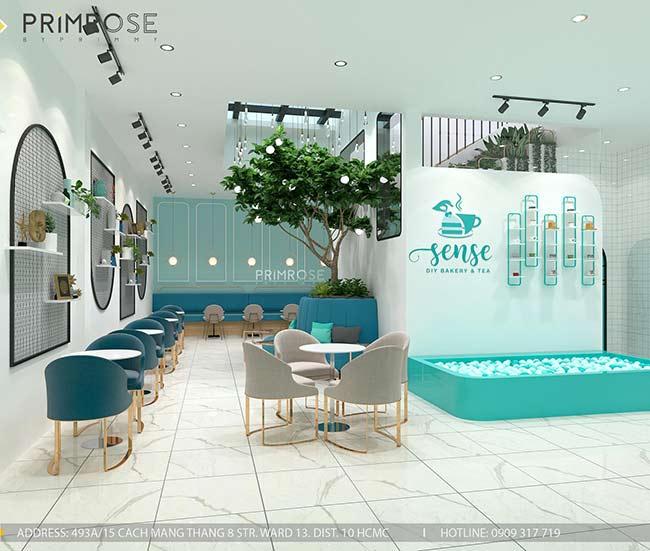 Thiết kế tiệm bánh ngọt kết hợp trà cafe Sense DIY Bakery & Tea thiet ke quan cafe banh HCM 20