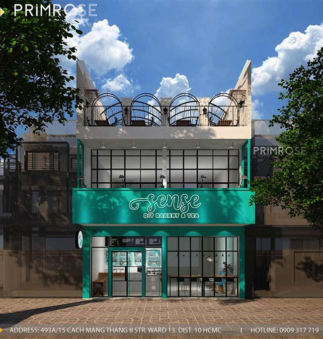 Thiết kế tiệm bánh ngọt kết hợp trà cafe Sense DIY Bakery & Tea thiet ke quan cafe banh HCM 21