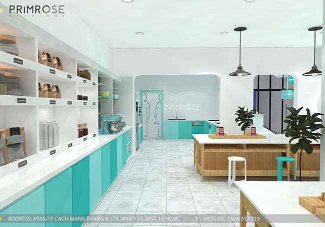 Thiết kế tiệm bánh ngọt kết hợp trà cafe Sense DIY Bakery & Tea thiet ke quan cafe banh HCM 4