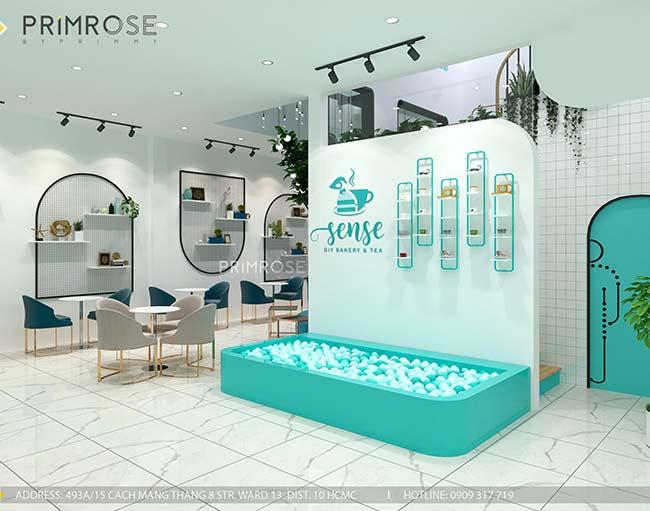 Thiết kế tiệm bánh ngọt kết hợp trà cafe Sense DIY Bakery & Tea thiet ke quan cafe banh HCM 7