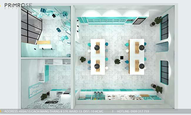 Thiết kế tiệm bánh ngọt kết hợp trà cafe Sense DIY Bakery & Tea thiet ke quan cafe banh HCM 8