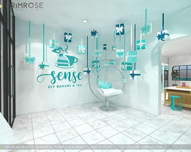 Thiết kế tiệm bánh ngọt kết hợp trà cafe Sense DIY Bakery & Tea thiet ke quan cafe banh HCM 9