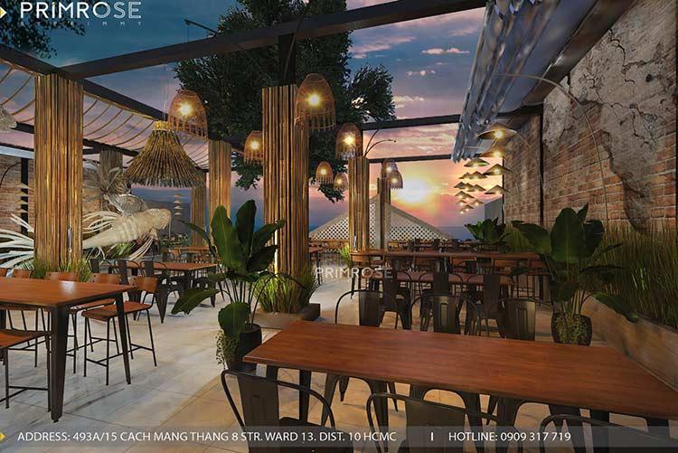 Thiết kế nhà hàng phong cách đồng quê nha hang san vuon thu duc 12