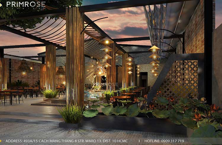 Thiết kế nhà hàng phong cách đồng quê nha hang san vuon thu duc 14