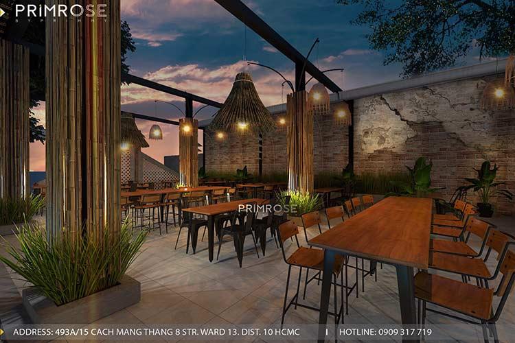 Thiết kế nhà hàng phong cách đồng quê nha hang san vuon thu duc 15