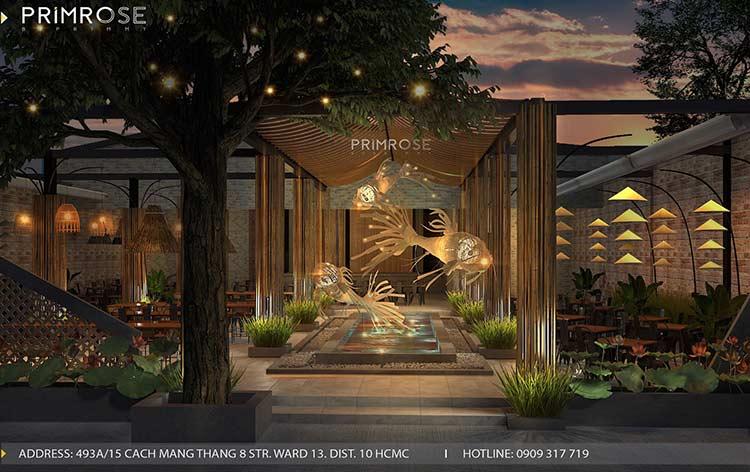 Thiết kế nhà hàng phong cách đồng quê nha hang san vuon thu duc 16