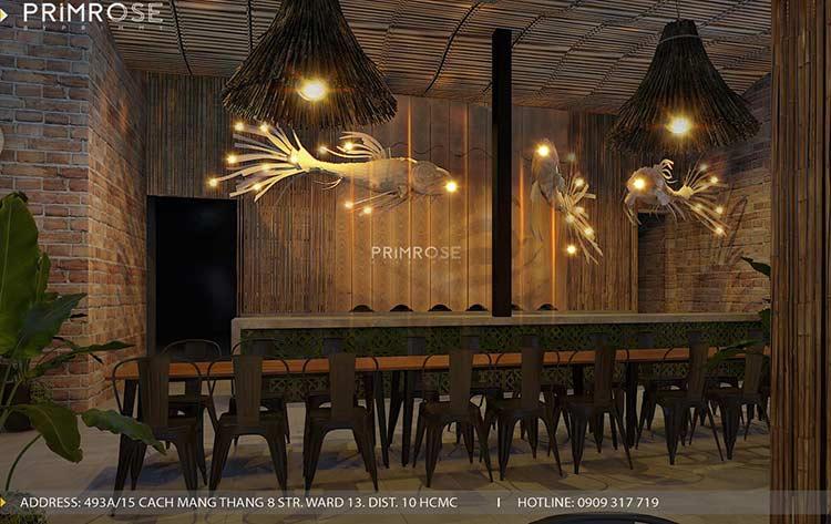 Thiết kế nhà hàng phong cách đồng quê nha hang san vuon thu duc 2