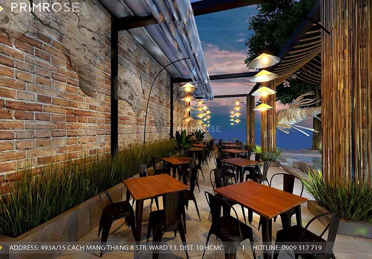 Thiết kế nhà hàng phong cách đồng quê nha hang san vuon thu duc 5
