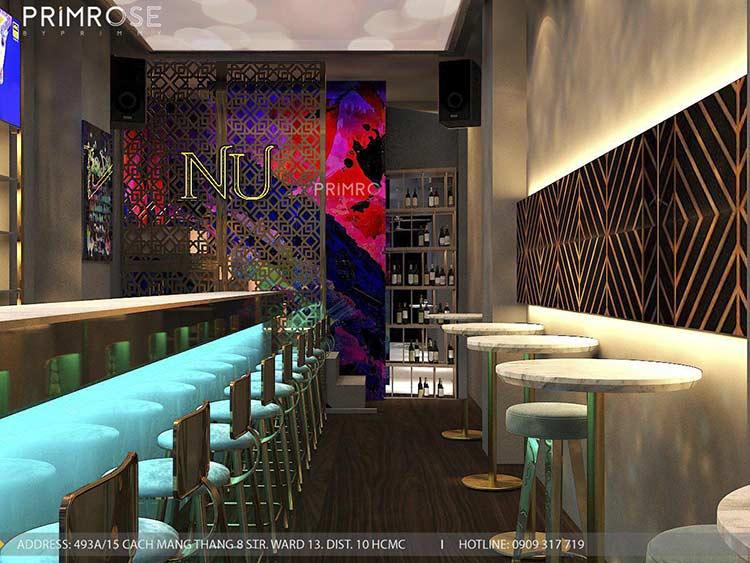 NU Lounge & Bar với thiết kế nội thất hiện đại, sang trọng thiet ke bar chuyen nghiep 1