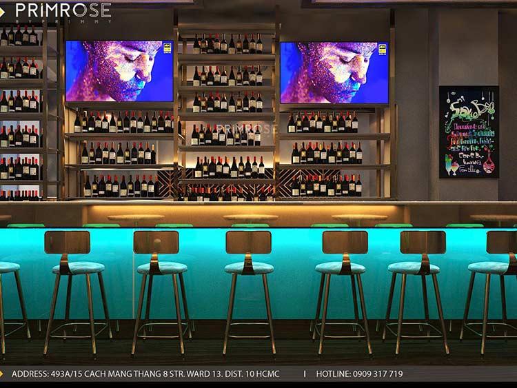 NU Lounge & Bar với thiết kế nội thất hiện đại, sang trọng