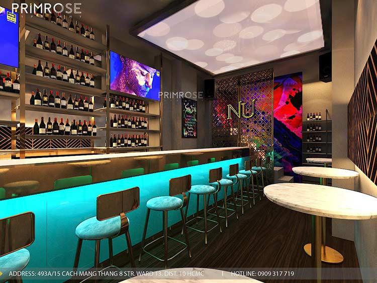 NU Lounge & Bar với thiết kế nội thất hiện đại, sang trọng thiet ke bar chuyen nghiep 9