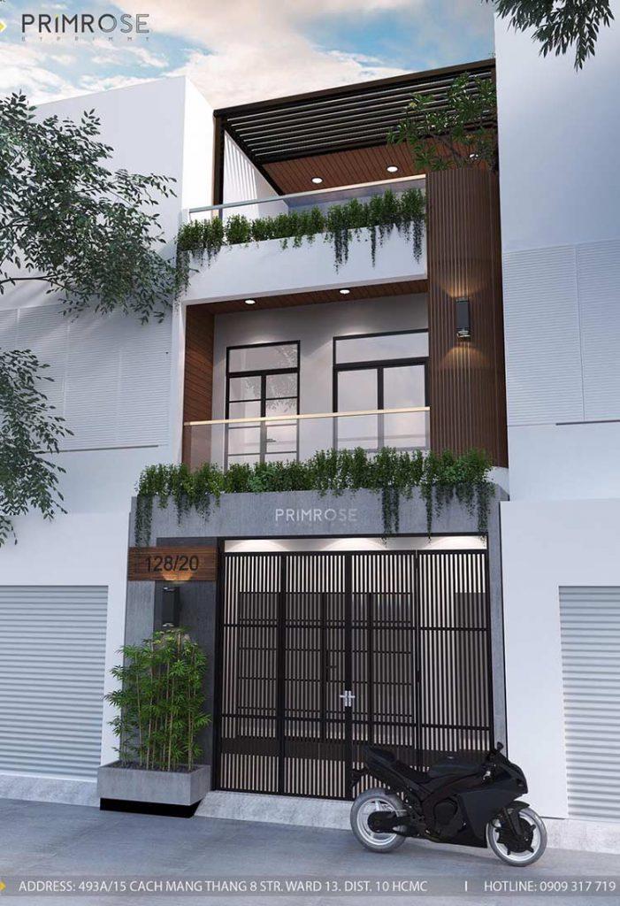 Thiết kế nội thất nhà phố 2 tầng phong cách hiện đại thiet ke nha pho hien dai 21