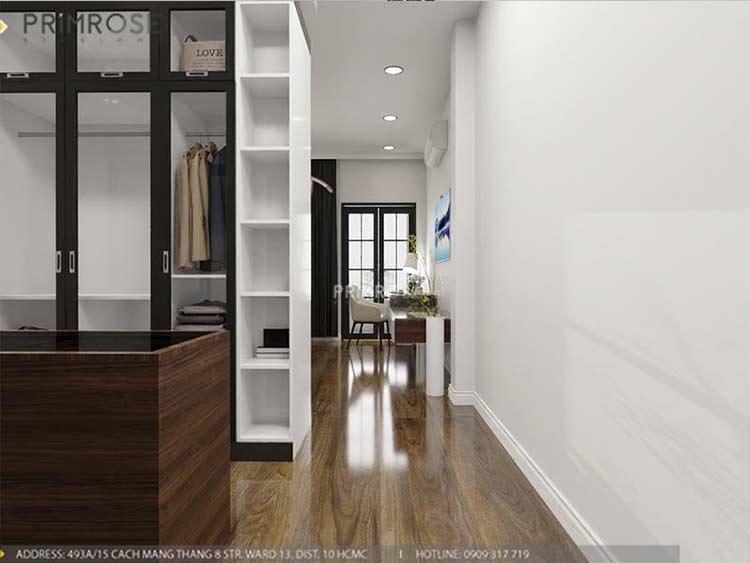 Thiết kế nội thất nhà phố 2 tầng phong cách hiện đại thiet ke nha pho hien dai 4