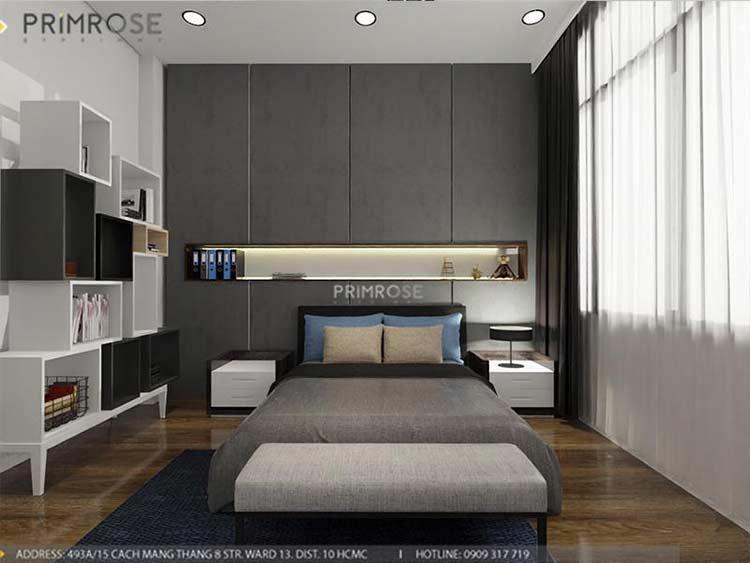 Thiết kế nội thất nhà phố 2 tầng phong cách hiện đại thiet ke nha pho hien dai 5