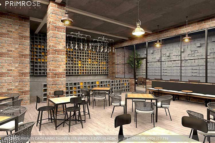 GARAGE CAFE - Mang phong cách công nghiệp hiện đại thiet ke quan cafe phong cach cong nghiep 5