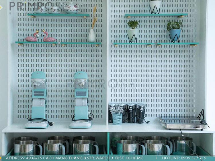 SENSE DIY BAKERY AND TEA - Không gian quán cafe bánh mang phong cách đương đại thi cong noi that quan cafe banh 11
