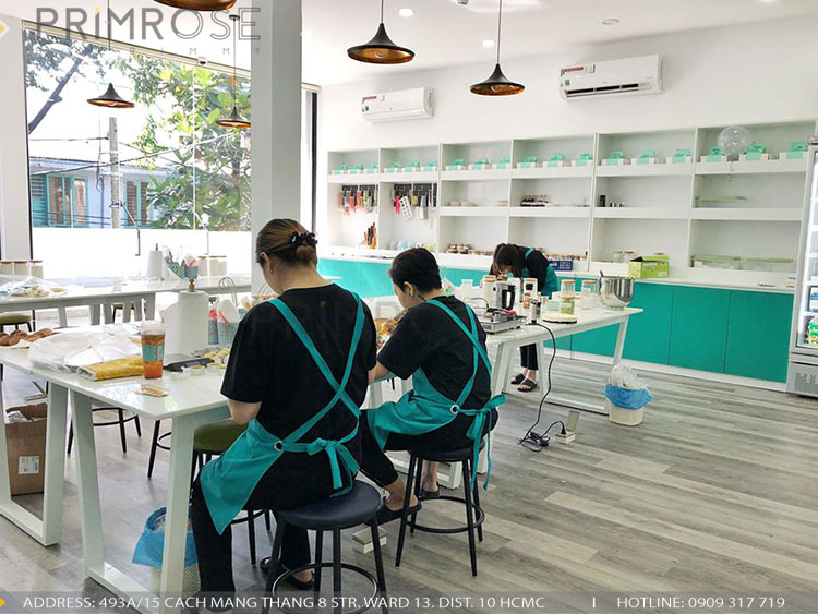 SENSE DIY BAKERY AND TEA - Không gian quán cafe bánh mang phong cách đương đại thi cong noi that quan cafe banh 18