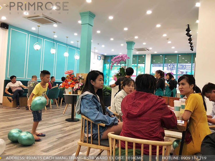 SENSE DIY BAKERY AND TEA - Không gian quán cafe bánh mang phong cách đương đại thi cong noi that quan cafe banh 20