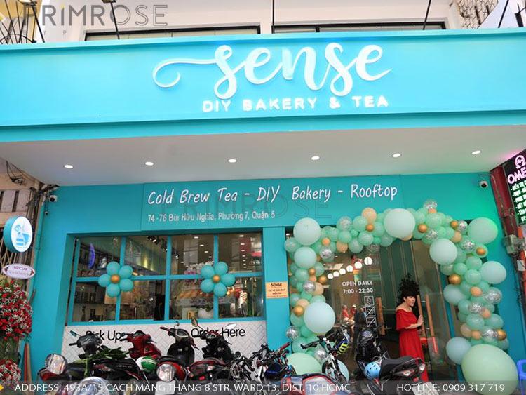 SENSE DIY BAKERY AND TEA - Không gian quán cafe bánh mang phong cách đương đại thi cong noi that quan cafe banh 22