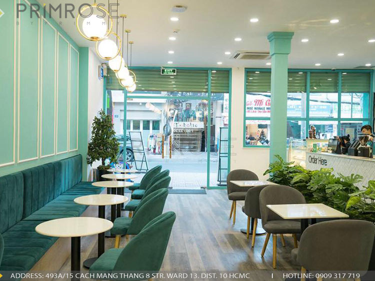 SENSE DIY BAKERY AND TEA - Không gian quán cafe bánh mang phong cách đương đại thi cong noi that quan cafe banh 7