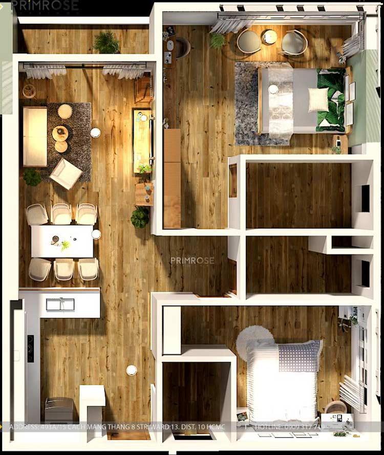 Thiết kế nội thất căn hộ Mizuki - Bình Chánh phong cách Đông Dương thie cong noi that can ho 1