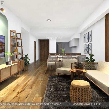 Thiết kế nội thất căn hộ Mizuki – Bình Chánh phong cách Đông Dương