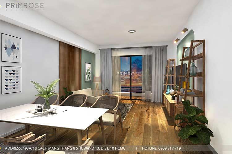 Thiết kế nội thất căn hộ Mizuki - Bình Chánh phong cách Đông Dương thie cong noi that can ho 4
