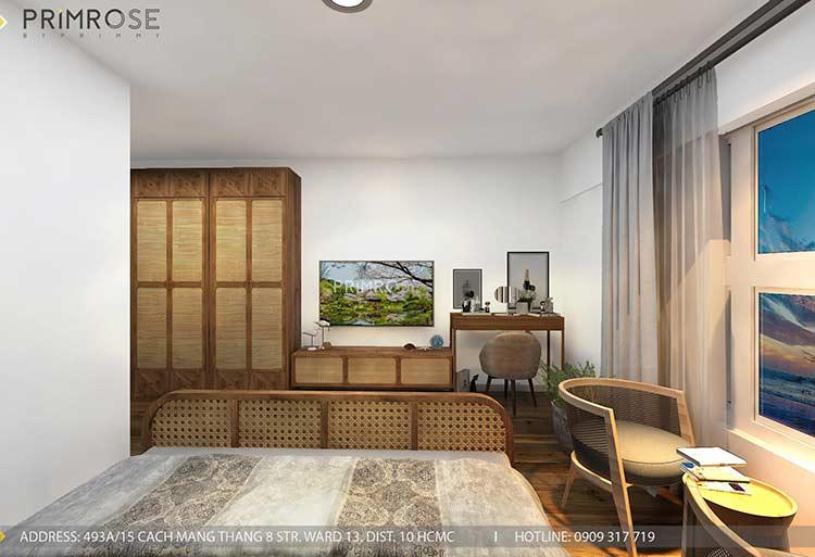 Thiết kế nội thất căn hộ Mizuki - Bình Chánh phong cách Đông Dương thie cong noi that can ho 5