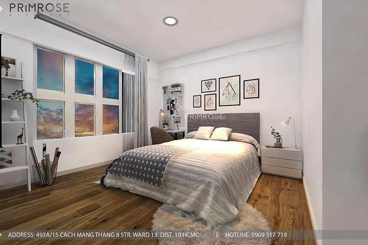 Thiết kế nội thất căn hộ Mizuki - Bình Chánh phong cách Đông Dương thie cong noi that can ho 7