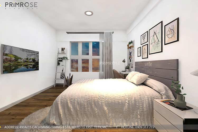 Thiết kế nội thất căn hộ Mizuki - Bình Chánh phong cách Đông Dương thie cong noi that can ho 8