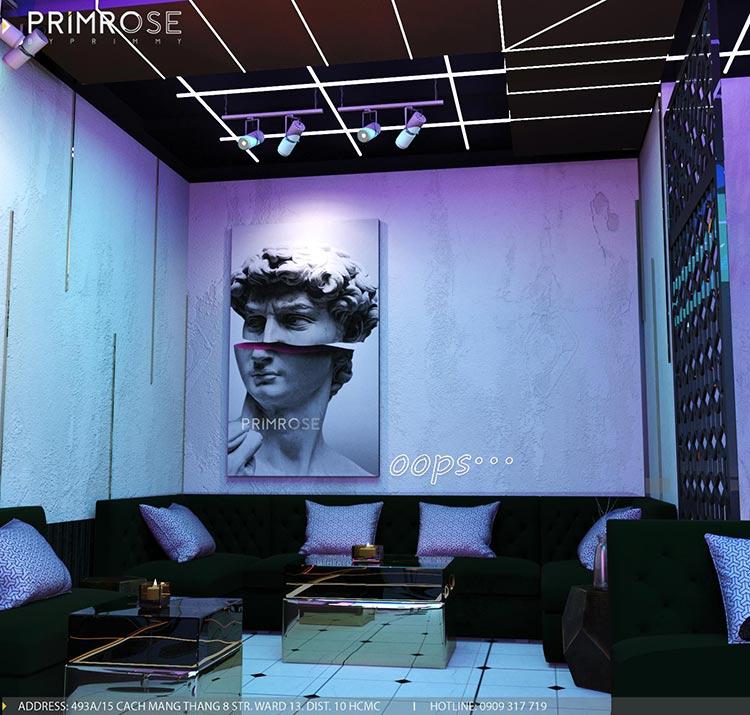 Thiết kế nội thất không gian cafe - DJ hiện đại thi cong noi that bar 1