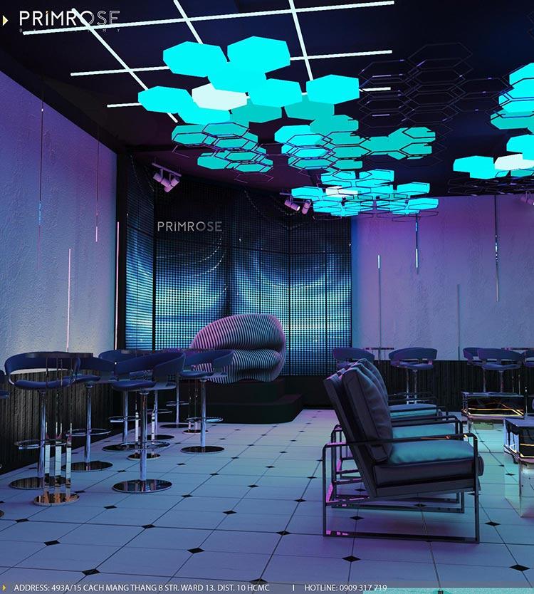 Thiết kế nội thất không gian cafe - DJ hiện đại thi cong noi that bar 2