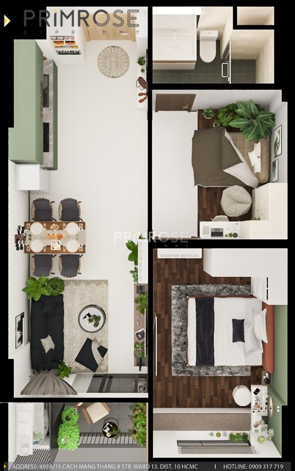 Thiết kế nội thất căn hộ Hado Centrosa Garden - Concept hiện đại thiet ke noi that can ho Ha Do 4