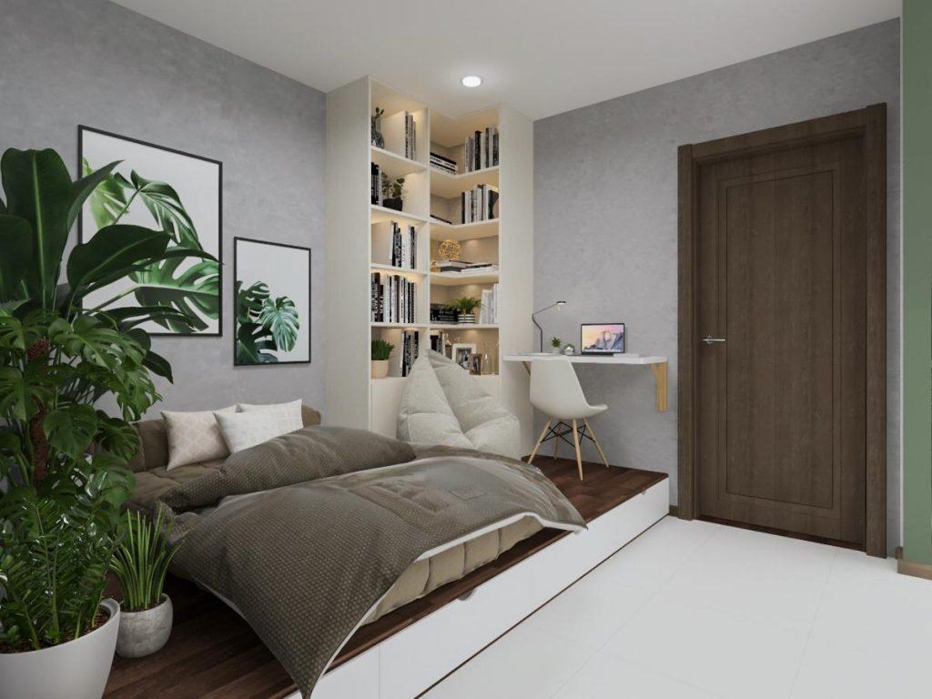 Thiết kế nội thất căn hộ Hado Centrosa Garden - Concept hiện đại thiet ke noi that can ho Ha Do 5