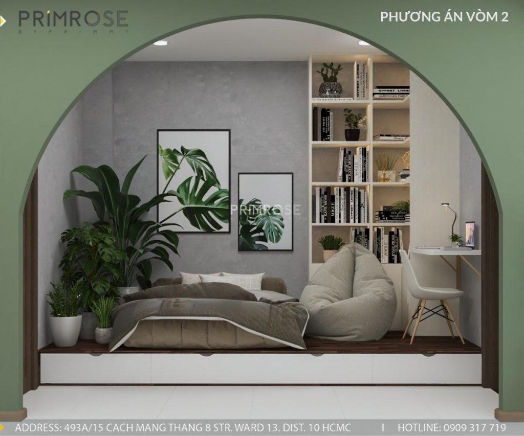 Thiết kế nội thất căn hộ Hado Centrosa Garden - Concept hiện đại thiet ke noi that can ho Ha Do 9