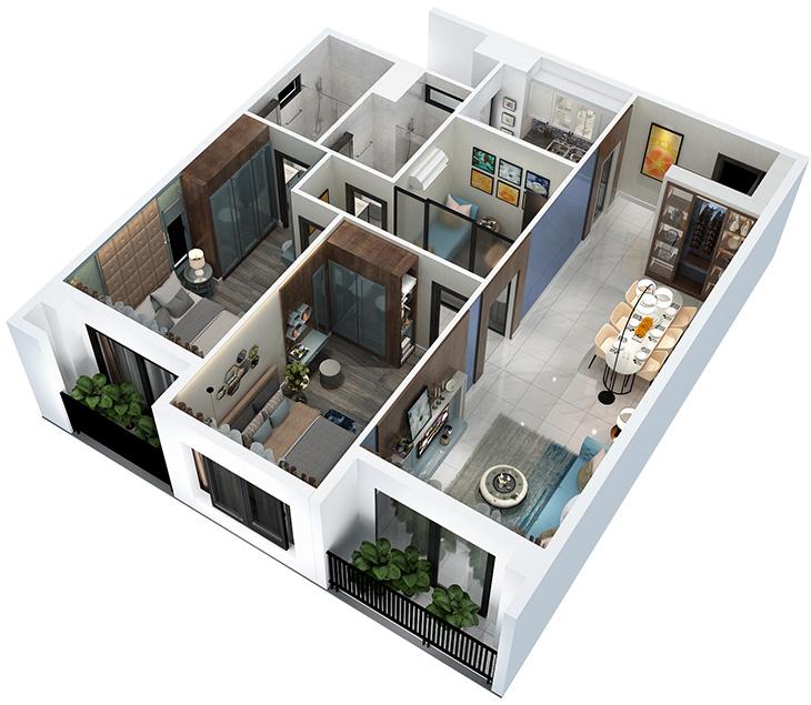 Thiết kế nội thất căn hộ Hà Đô, Quận 10 thiet ke noi that can ho HADO quan10 1