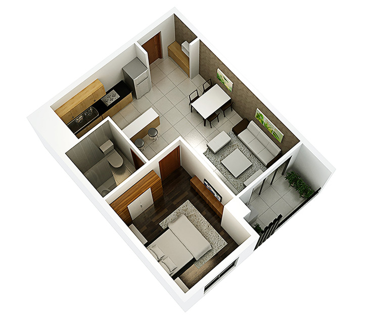 Thiết kế nội thất căn hộ Hà Đô, Quận 10 thiet ke noi that can ho HADO quan10 2