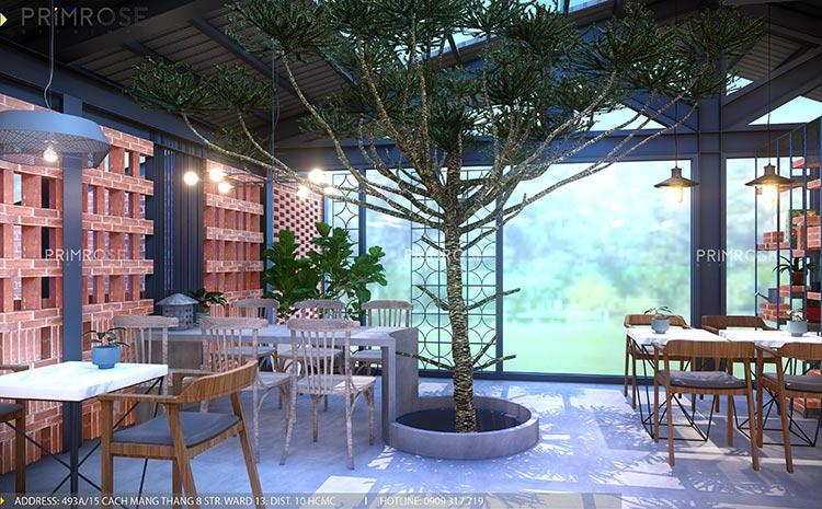Cafe Codotel - Không gian quán cafe phong cách công nghiệp thiet ke noi that quan cafe Codotel 1
