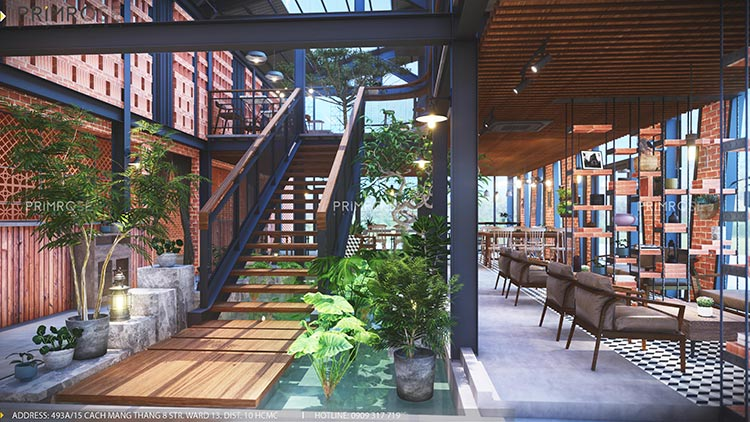 Cafe Codotel - Không gian quán cafe phong cách công nghiệp thiet ke noi that quan cafe Codotel 14
