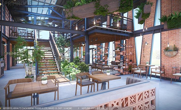 Cafe Codotel - Không gian quán cafe phong cách công nghiệp thiet ke noi that quan cafe Codotel 4
