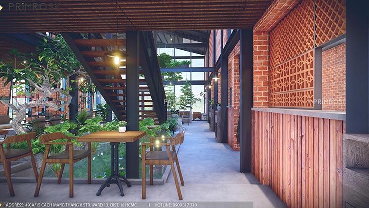 Cafe Codotel - Không gian quán cafe phong cách công nghiệp thiet ke noi that quan cafe Codotel 6